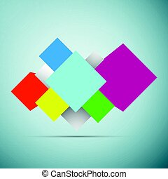 Abstract background with 3d cubes icon isolated on blue background. Vector Illustration