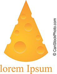 Cheese logo on the white background