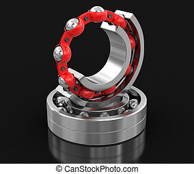 Bearings. Image with clipping path