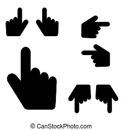 hand touch collection set icon illustration - hand touch...