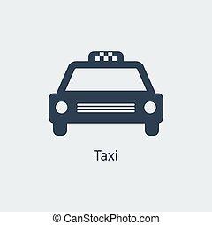 taxi, icono,  vector
