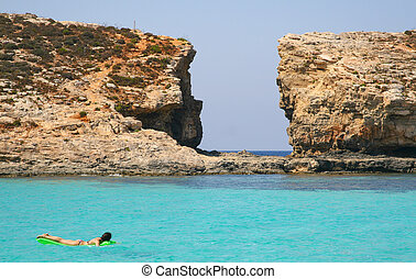 Island of Comino was once popular with marauders and pirates...