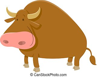 cartoon bull farm animal