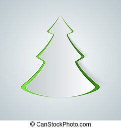 Fir-tree paper icon.