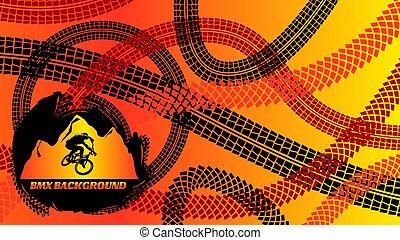 BMX Background Design - BMX background design in red yellow...