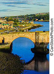 Berwick Bridge, also known as the Old Bridge, spans the...