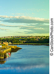 Panorama of Berwick Upon Tweed in England, UK