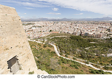 View of the city of Alicante in Spain.