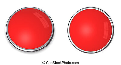 3D Button Solid Light Red
