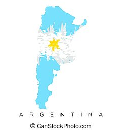 Isolated Argentinian map