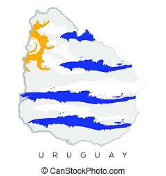 Isolated Uruguayan map