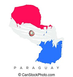 Isolated Paraguayan map