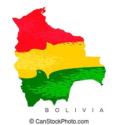 Isolated Bolivian map