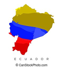 Isolated Venezuelan map with its flag, Vector illustration