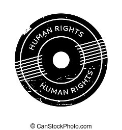 Human Rights rubber stamp. Grunge design with dust...
