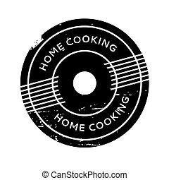 Home Cooking rubber stamp