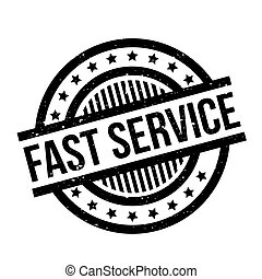 Fast Service rubber stamp. Grunge design with dust...