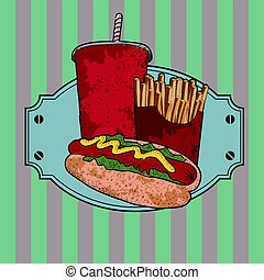 Isolated fast food combo
