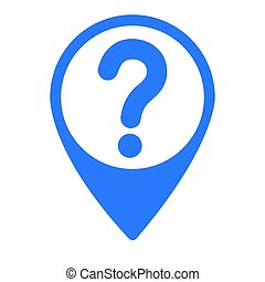 Isolated map pin with a question mark, Vector illustration