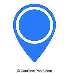 Isolated map pin on a white background, Vector illustration
