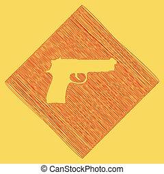 obtained, Ilustración, rhomb, garabato, real, arma de fuego,...