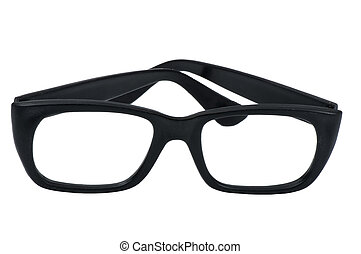 black spectacle frame isolated over white background