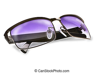 Sun glasses - Purple sun glasses isolated over white...