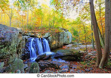 High Dynamic Range photo of Kilgore Falls in Maryland in...