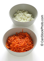 cut onion and carrot