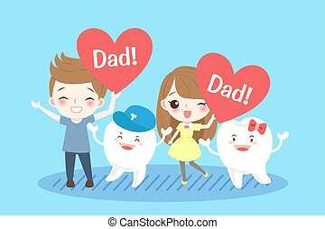 children with tooth - cute cartoon children with tooth on...