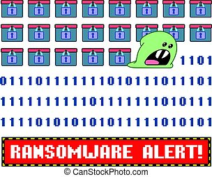 Ransomware virus encrypting the data wishing you pay...