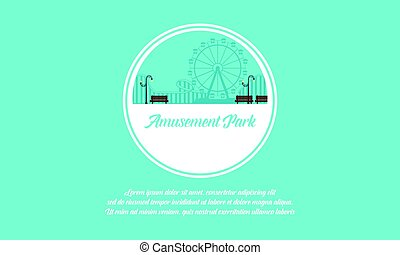 Vector art amusement park background