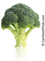 Broccoli - Fresh, organic broccoli, isolated on a white...