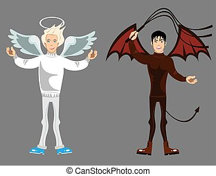 Angel and devil .