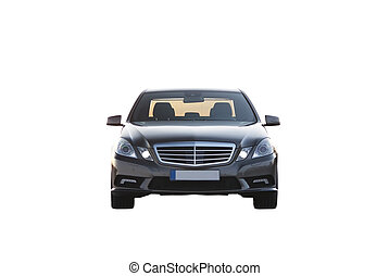Luxury car isolated over white frontal view