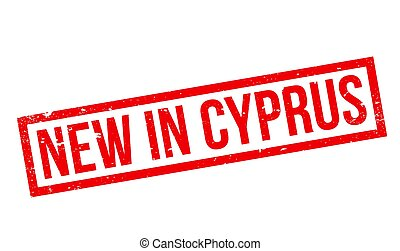 New In Cyprus rubber stamp. Grunge design with dust...