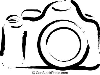 camera outline drawing