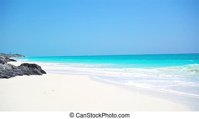 Perfect white beach with turquoise water - Perfect white...