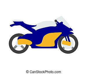 Bike flat icon and logo. Cartoon Vector illustration