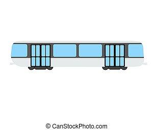 Metro flat icon and logo. Cartoon Vector illustration