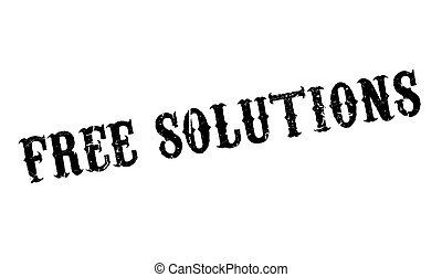 Free Solutions rubber stamp. Grunge design with dust...