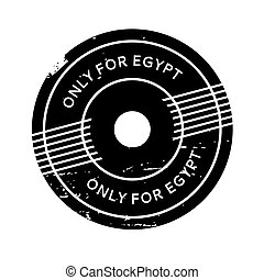 Only For Egypt rubber stamp. Grunge design with dust...