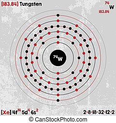 Element of Tungsten - Large and detailed infographic of the...