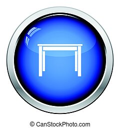 Dinner table icon. Glossy button design. Vector...