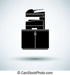máquina, copiado, icono