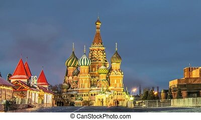 Red Square in Moscow, Russia - Night view of Moscow Red...