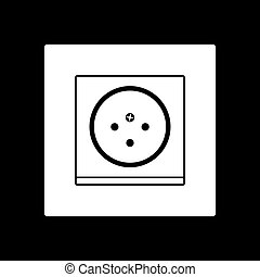 South Africa electrical socket icon