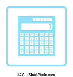 Statistical calculator icon. Blue frame design. Vector...