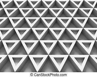 equilateral triangles - white abstract background with...