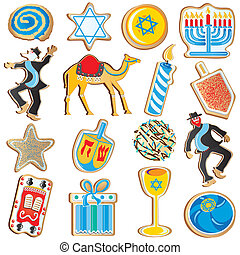 Jewish Chanukah Cookies - Cute assortment of Jewish Chanukah...
